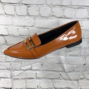 Zara trafaluc brown flats loafers sz 39/7.5